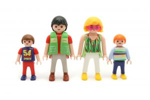Planning a will if you have a family (image of lego family)