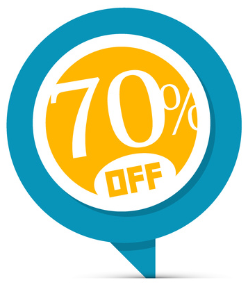 offers 70% off