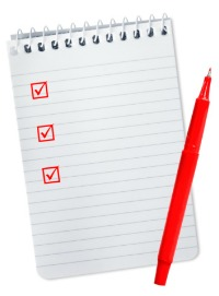 picture of notepad checklist
