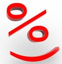 A percentage sign smiley